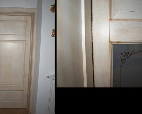 Porte interne shabby chic adesivo per porta colore bianco with porte interne shabby chic flou - Porte country chic ...