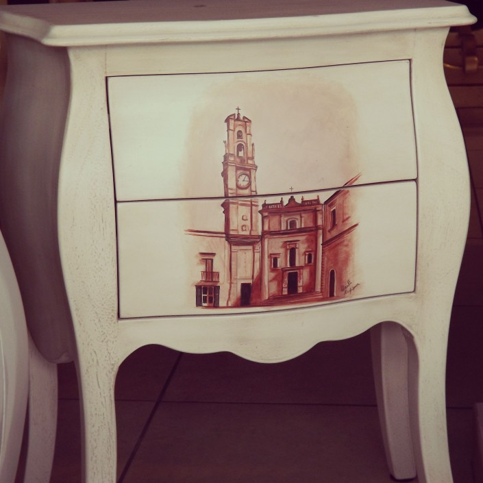 dipinto a mano per showroom legno arredo